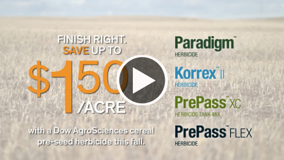 HURRY! Finish right this fall and save up to $1.50/acre.