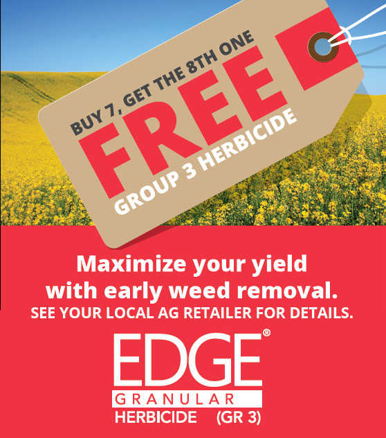 Using Edge Group 3 means you get activity on grass AND broadleaf weeds. That's good for resistance management. And good for yields. And just plain smart.
