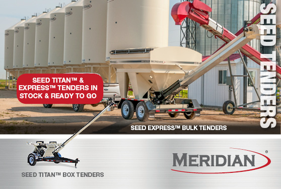 Meridian has Box and Bulk tenders in stock and ready for your 2018 seed season!
