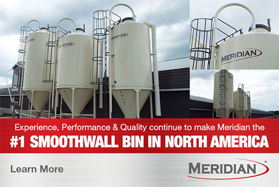 Meridian SmoothWall Hopper Bins are Proudly Built in Cambridge, Ontario