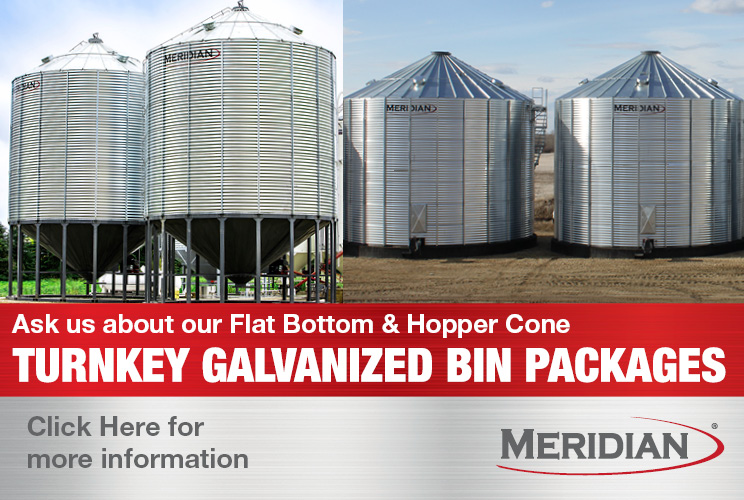 Book Your Galvanized Flat Bottom & Hopper Cone Bins with Meridian